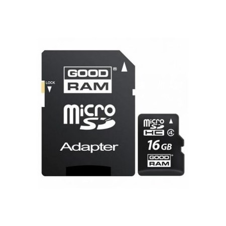 GOODRAM microSD 16GB CL4 with adapter *