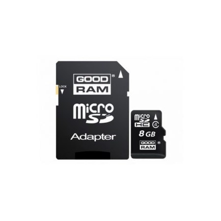 GOODRAM microSD 8GB CL4 with adapter *
